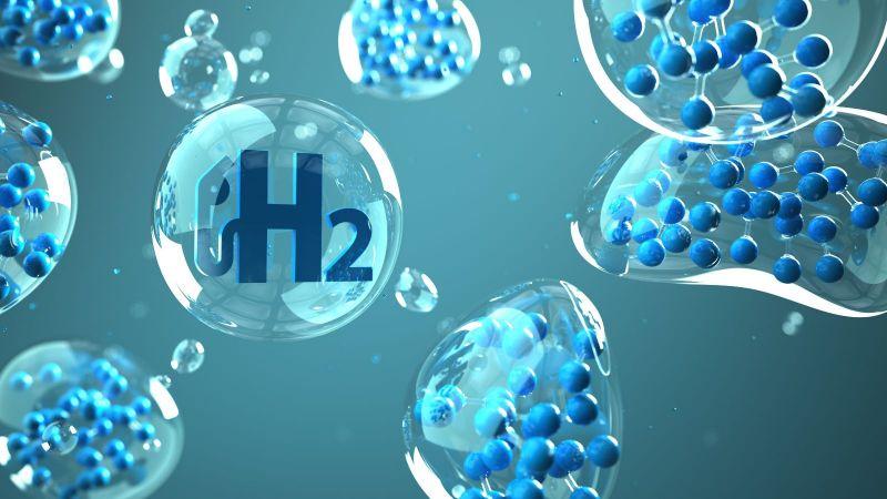 Wasserstoffmoleküle in Blasen