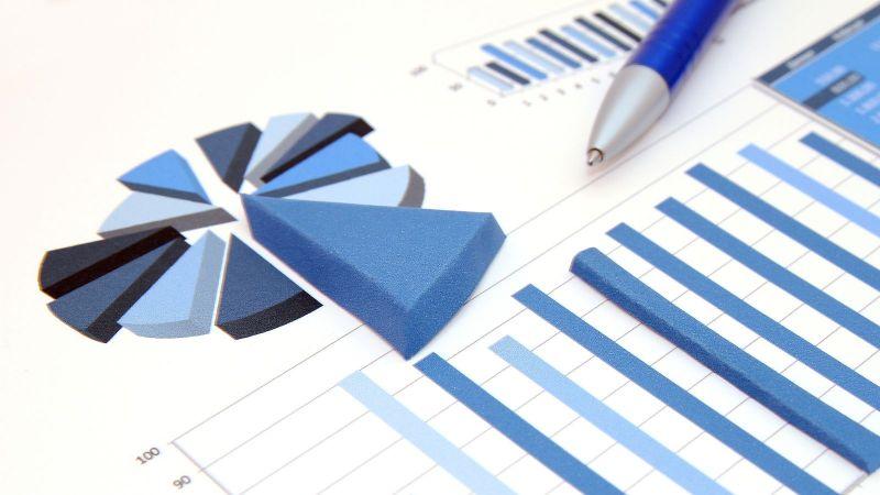 Das Bild zeigt eine Balkendiagramm und ein Kreisdiagramm, aus dem ein Sektor hervorgehoben ist