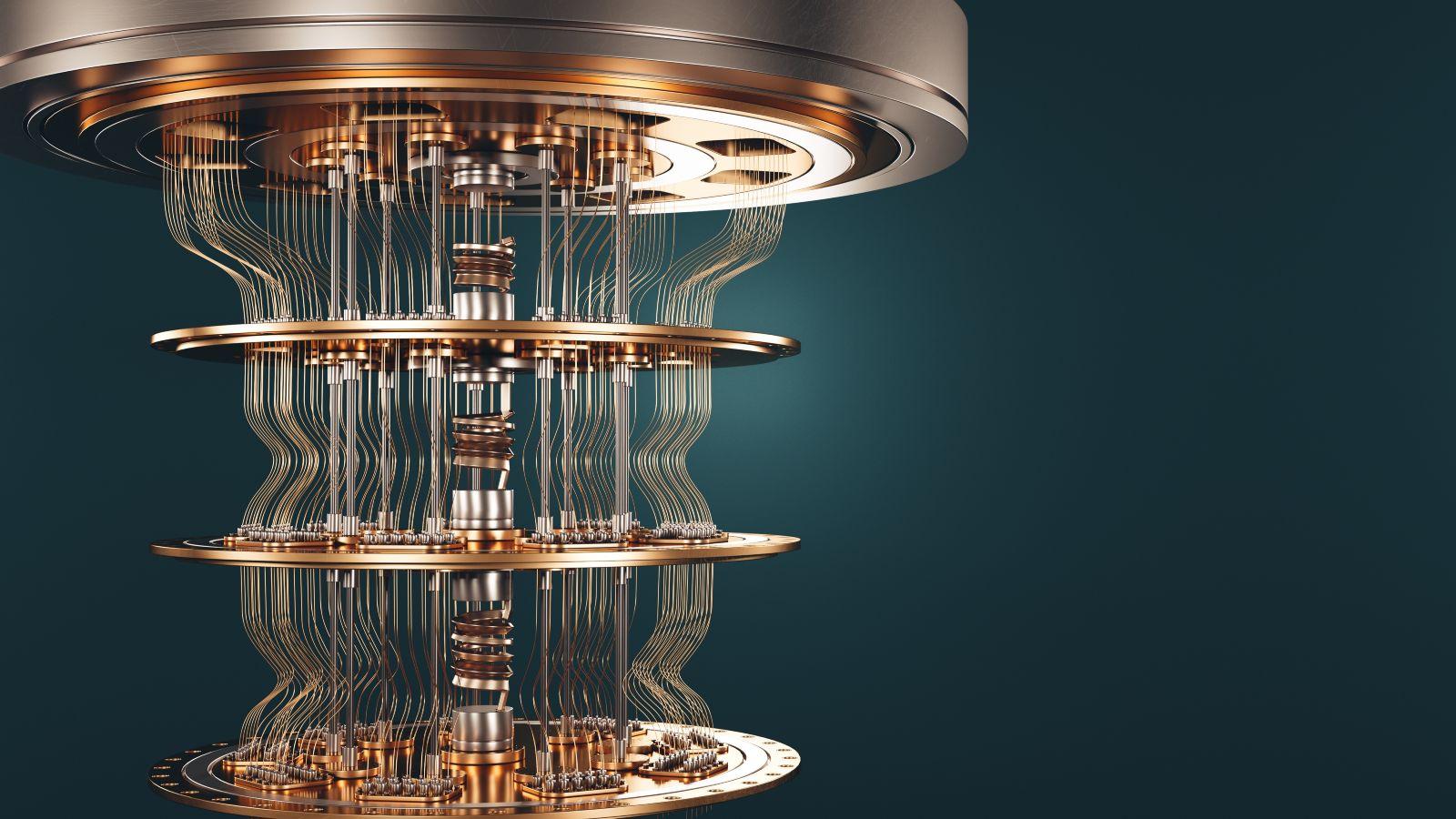 Auf diesem Bild sehen Sie den Prototypen eines Quantencomputers
