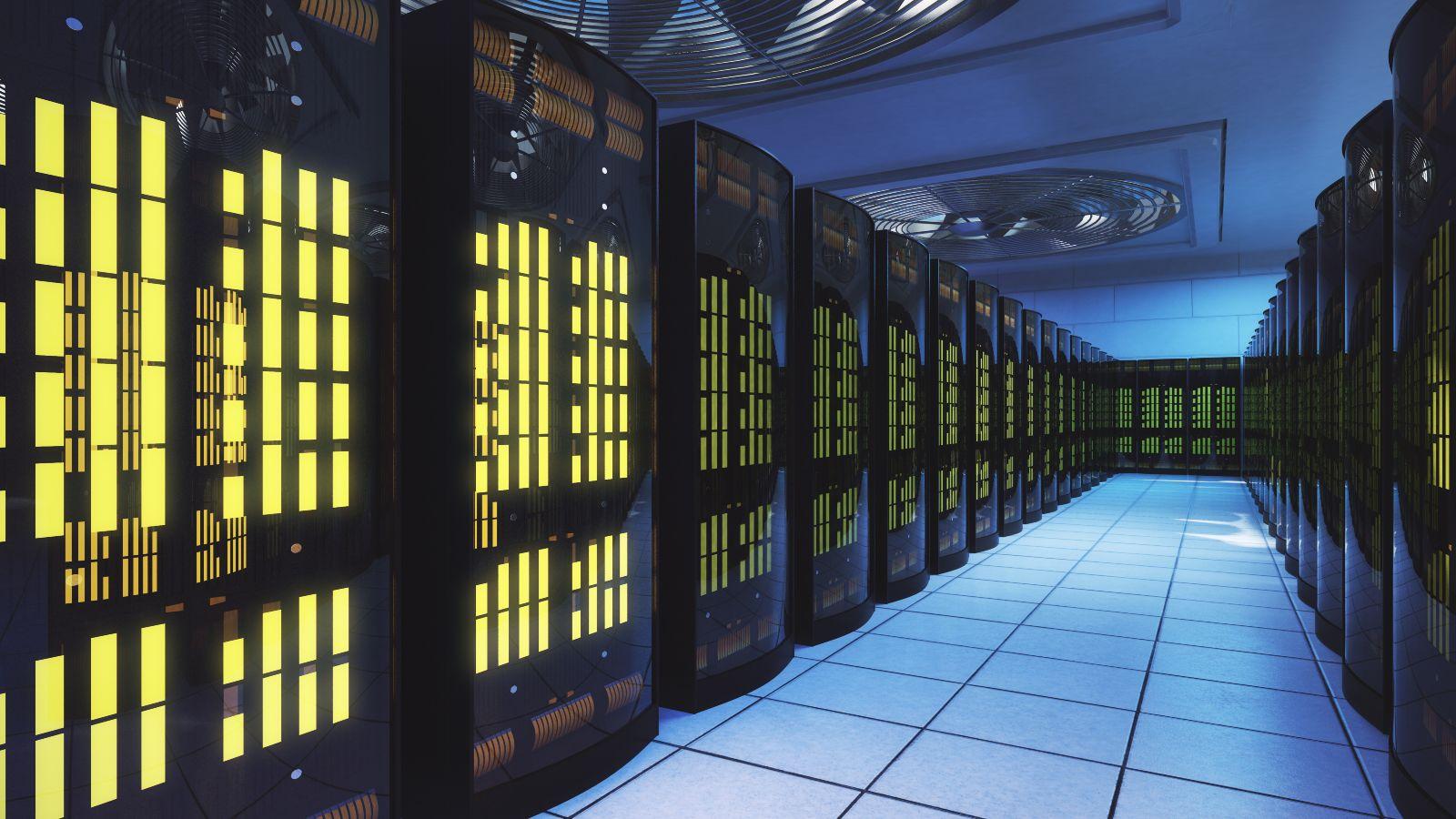 Dieses Bild zeige eine Serverfarm.